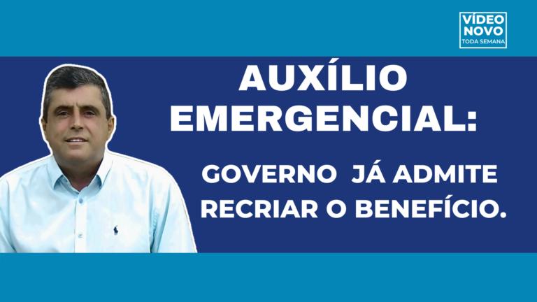 PRORROGAÇÃO AUXÍLIO EMERGENCIAL:Governo diz que benefício pode ser recriado.