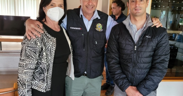 João Amin acompanha ministro do Turismo em visita ao Estado