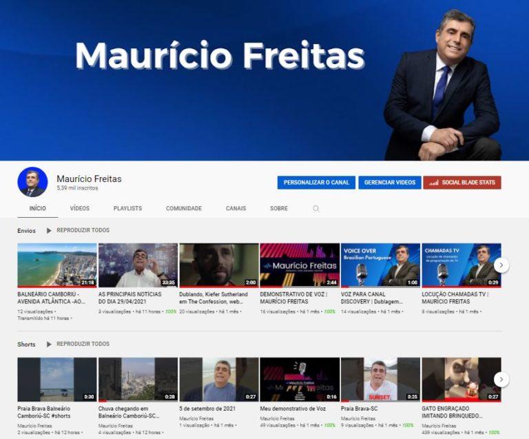 Conheça o Canal do Maurício Freitas no YouTube